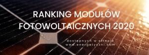 Ranking modułów (paneli) fotowoltaicznych 2020